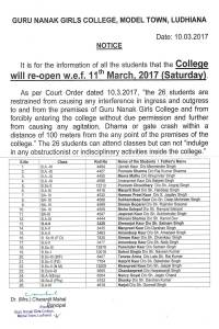 Notice_College re-opens